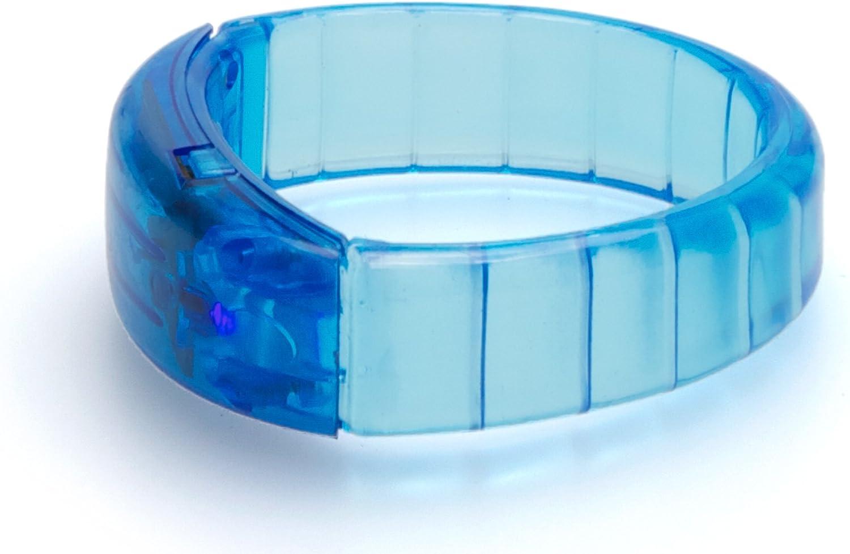 Armreif Leuchtband f/ür Geburtstag Party Kinder Kindergeburtstag Mitbringsel Mitgebsel Armband Leuchtend LED Leuchtarmband Blau