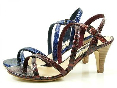 Tamaris Damen Sandaletten Bordeaux, Schuhgröße:EUR 38