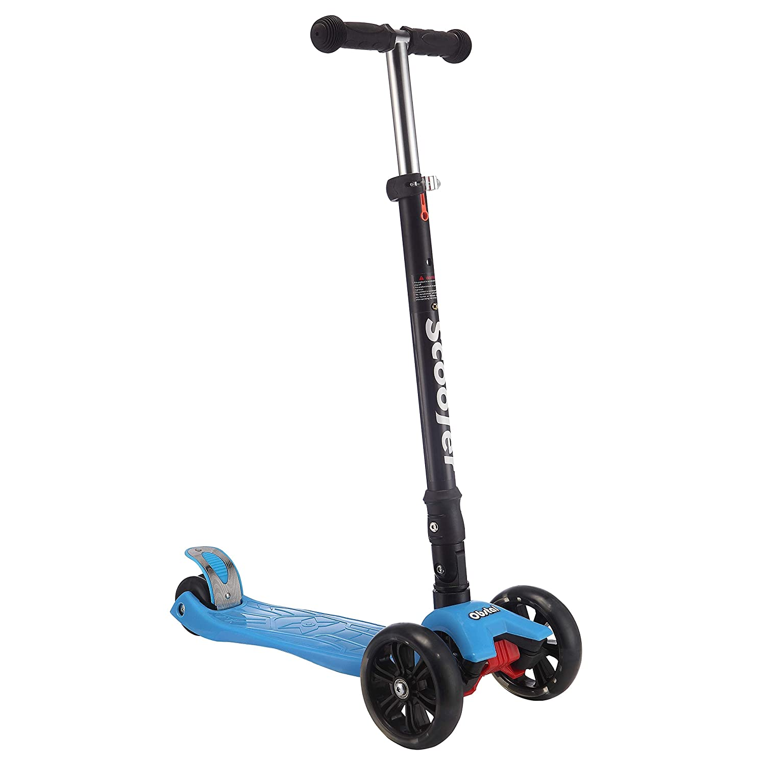 Adjustable Height Folding T-bar with Flashing Wheels Detachable T-bar with Flashing Wheels Pink Double /& Three Wheels Obstal Kick Scooter for Kids