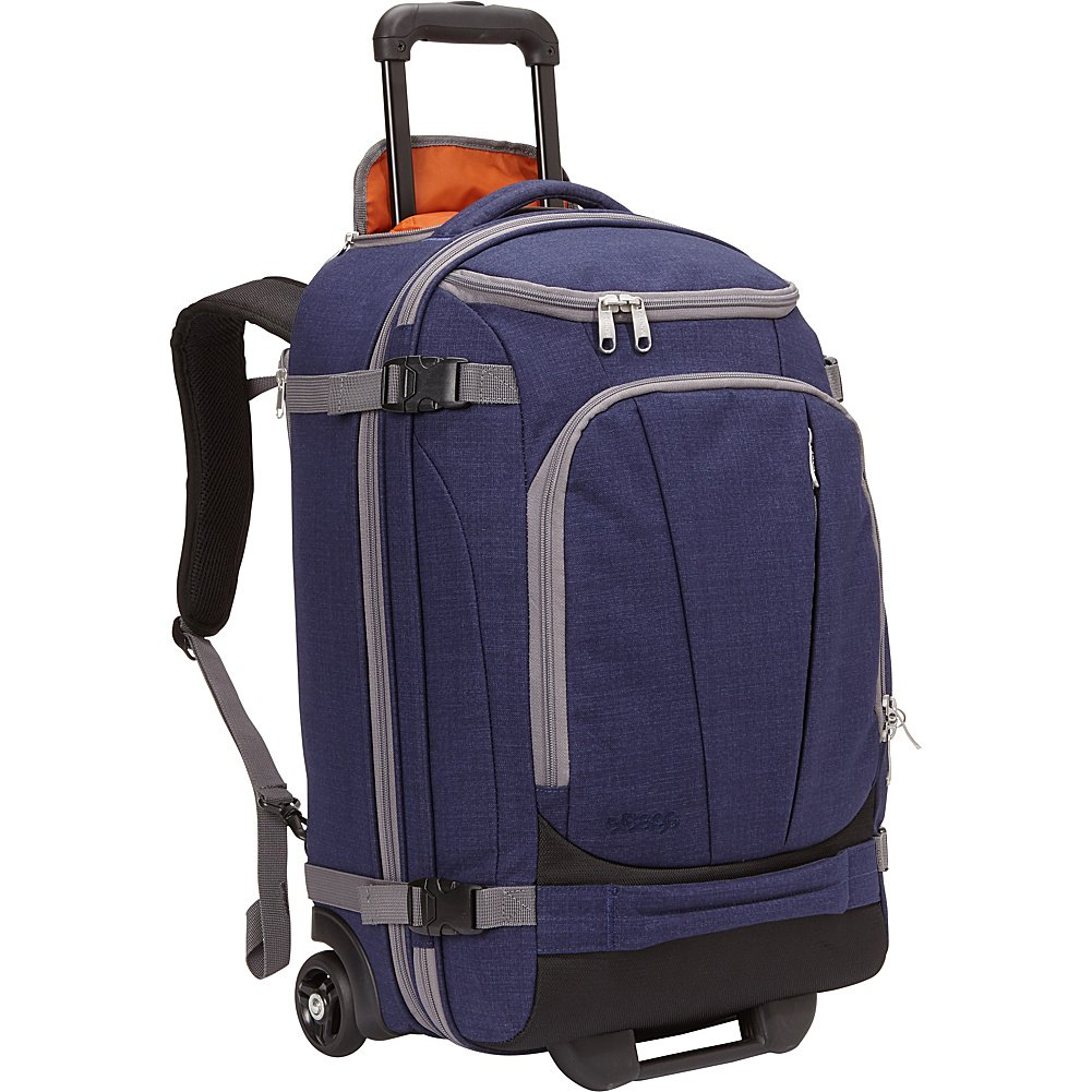 Carry-On Heathered Graphite eBags TLS Mother Lode Rolling Weekender 22 Travel Backpack with Wheels