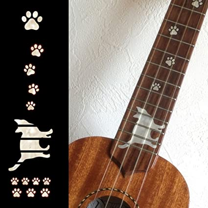 For BASS Fretboard Markers Inlay Sticker Decals Cats Foot Print-BP