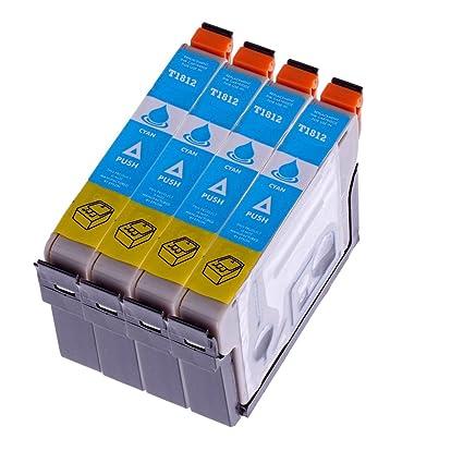 4 Cartuchos de impresora para Epson T 1812 T1812 con chip para ...