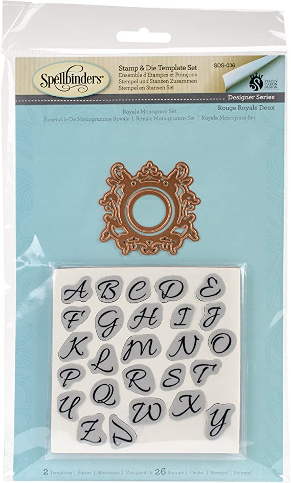 Spellbinders Royale Monogram Stamp And Die Set Multicoloured Amazon Co Uk Kitchen Home