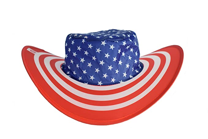 40fa46f7d0d Amazon.com  BEEN THERE BRAND American Pride Flag Twist-and-Fold Hat ...