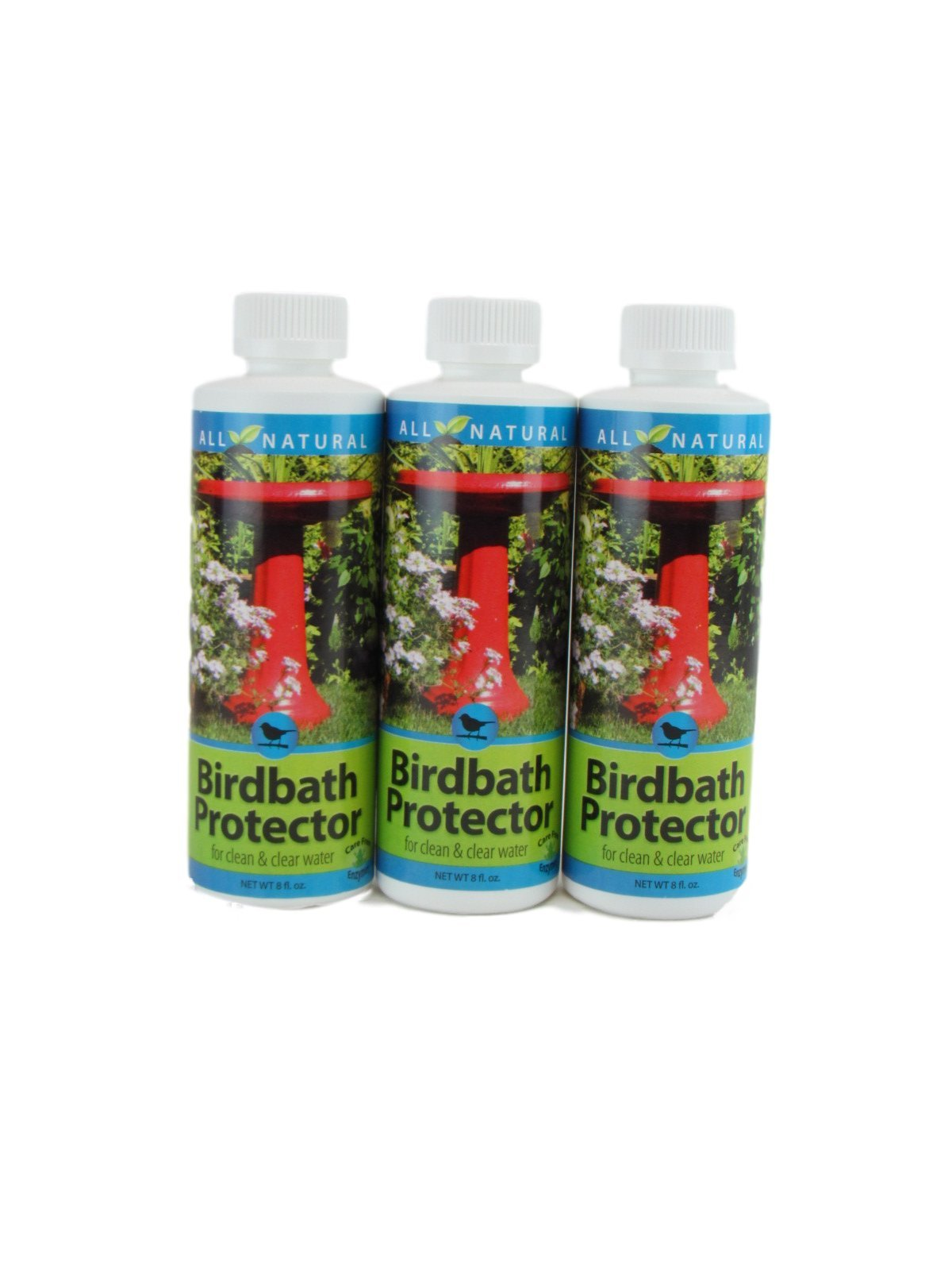 3-Pack Care-Free Enzymes Birdbath Protector Made in USA 8 oz. by Care Free Enzymes
