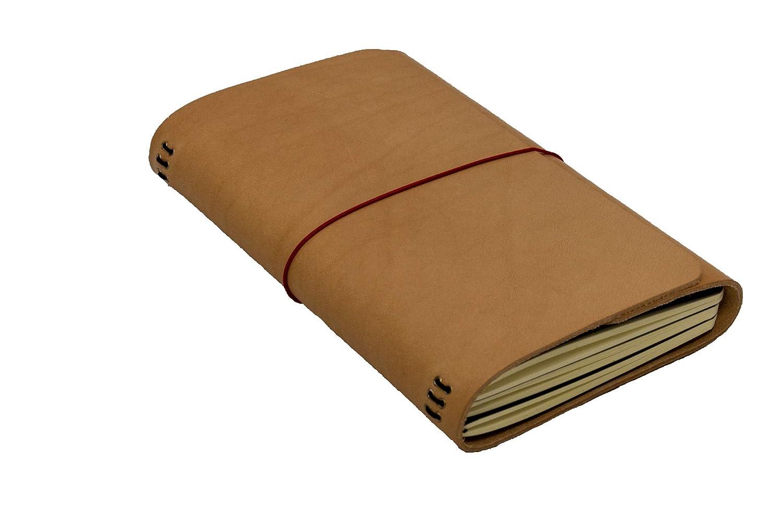 LOUISE CARMEN(ルイーズカルメン) 手帳 ノートカバー フランス製 高級本革 手作りA5サイズスリム ロードブック ナチュラル  ナチュラル B07PF7THRN