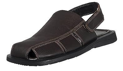 8b4179dcb695 Mens Casual Sandals Handmade Genuine Leather Sandals For Mens (39 M EU 7-