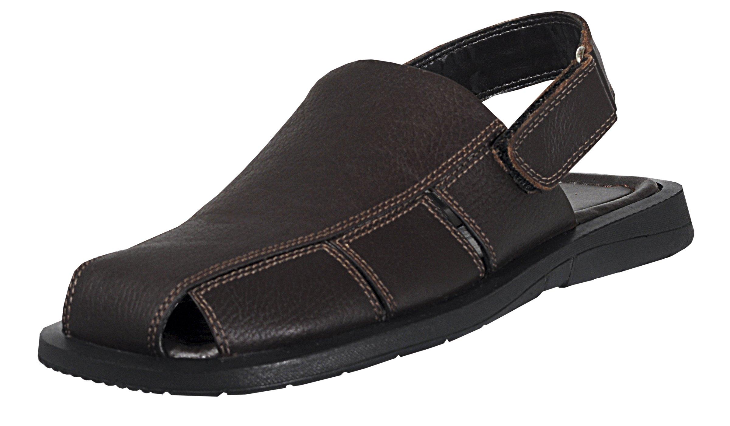 Mario Pellino Mens Casual Sandals Handmade Genuine Leather Sandals For Mens (40 M EU/8-8.5 B(M) US, Brown)