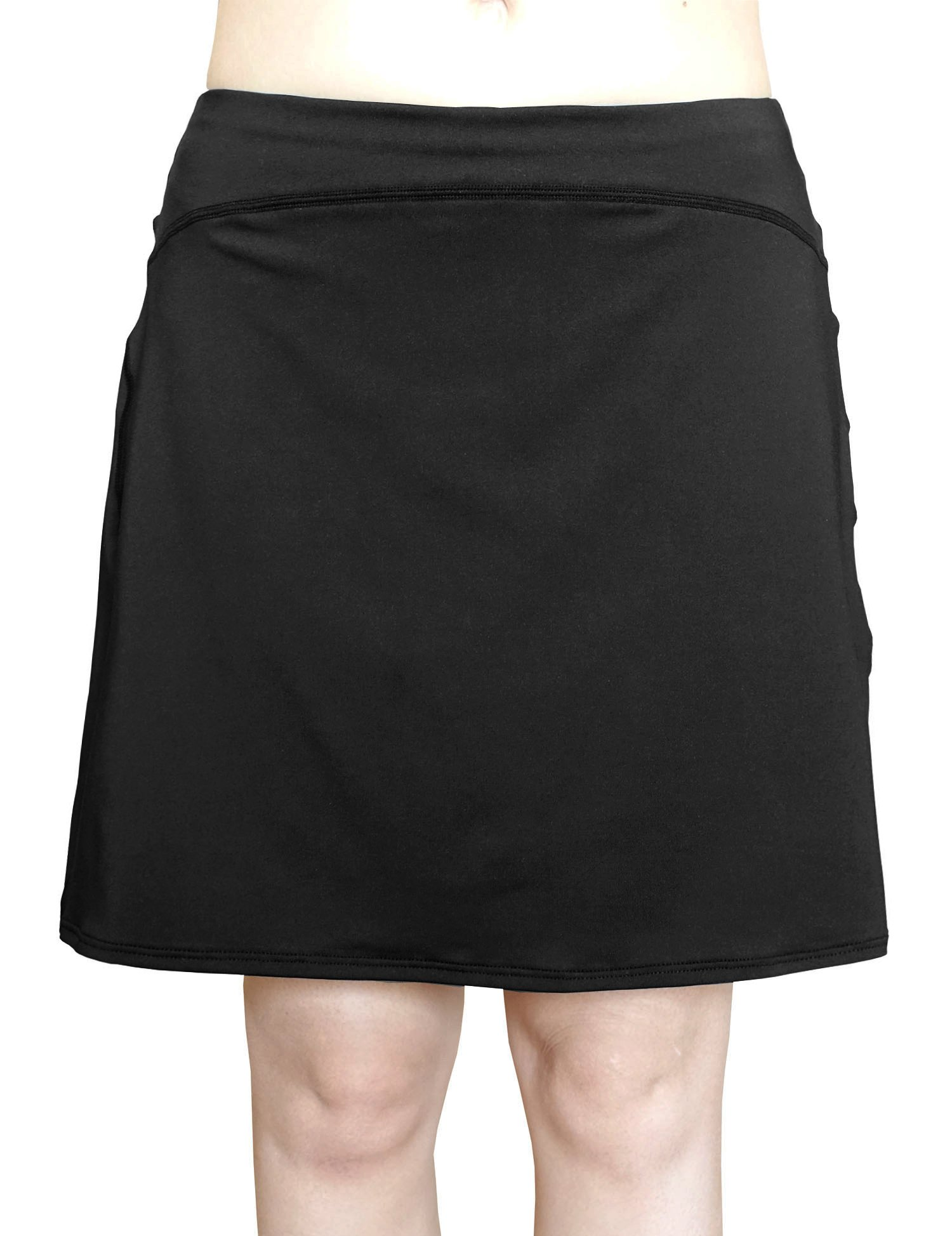 Cocoship Black Women's Multi-purpose Swim Cover Up Bottom Athletic UPF 50+ Sports Skirt L(FBA)