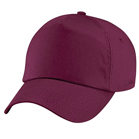 Beechfield Original 5 Panel - Gorra de Burgundy - ripstrip: Amazon ...