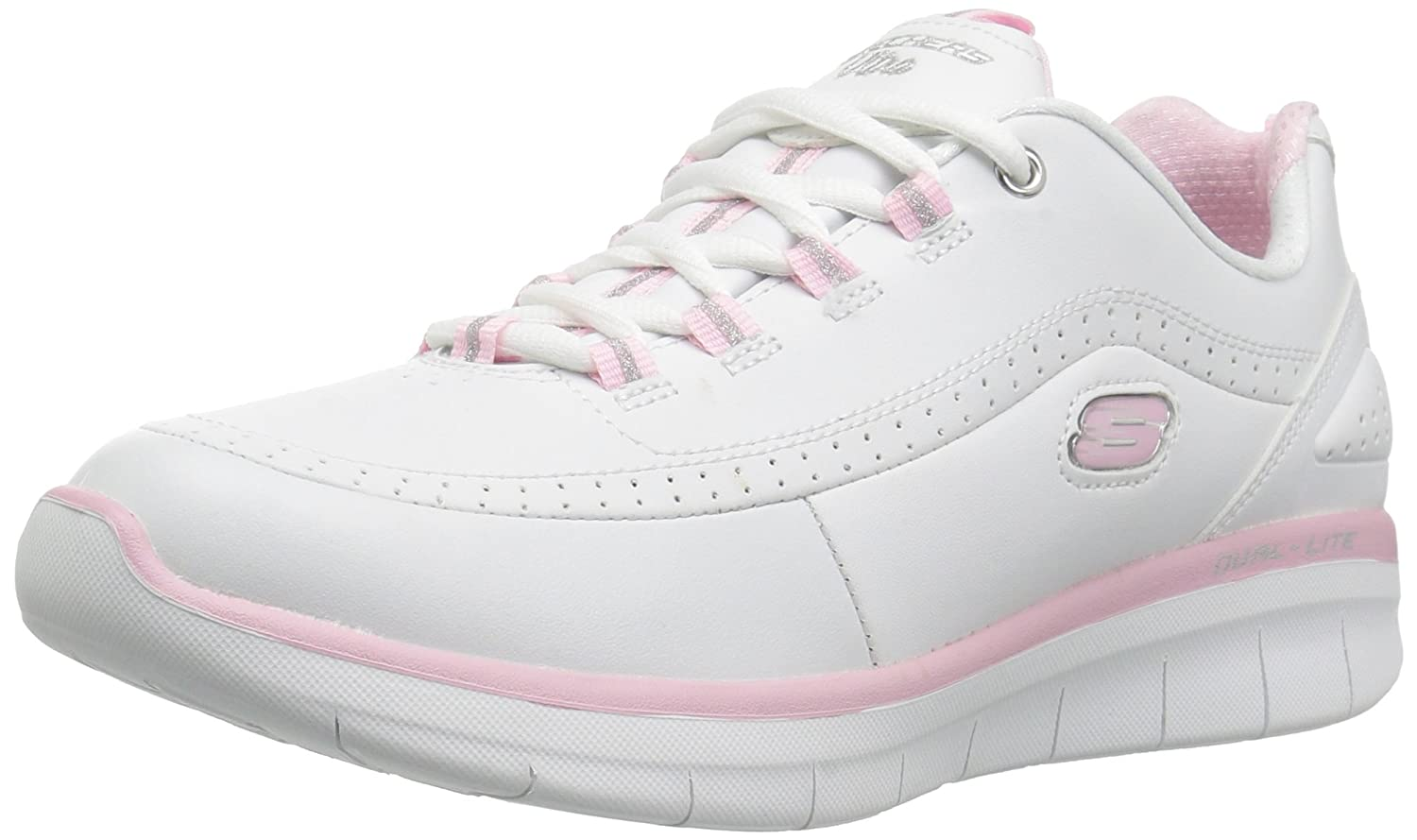 Skechers Synergy 2.0, Zapatillas para Mujer 3|White/Pink