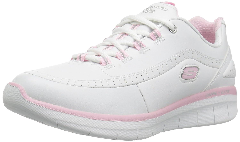 Skechers Women's Synergy 2.0 Fashion Sneaker B01NCXUC87 10 B(M) US|White/Pink