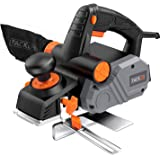 """Planer, TACKLIFE Power Hand Planer, 7.5 Amp 900W 14500Rpm 3-1/4-Inch, with 1/96"""" to 1/8"""" Adjustable Cut Depth, 2-Side Blow Ch"""