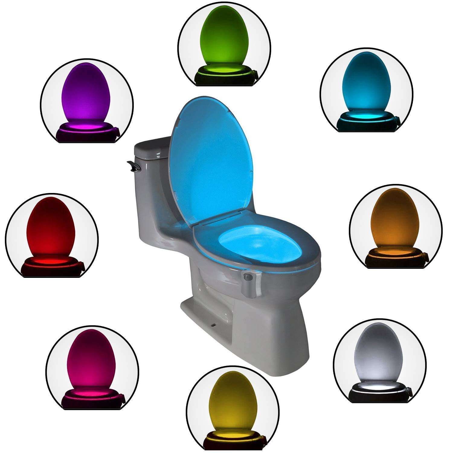 The Original Toilet Night Light Gadget. Fun Fathers Day Gifts from Daughter Wife Son Kids Girlfriend. Weird Novelty Funny Birthday Gag Gift for Men Dad Boys Toddlers Motion Sensor Activated LED Colors