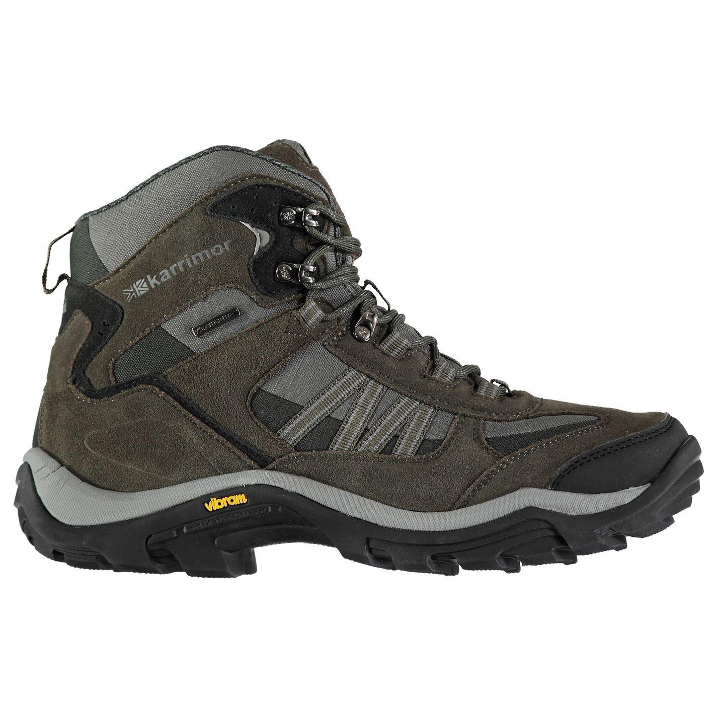 Karrimor Mens Aspen Mid Weathertite Walking Boots Waterproof Breathable Shoes Black Sea UK 8.5 (42.5)