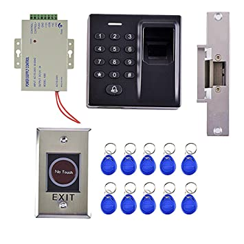 Sharplace Control de Acceso de Tarjeta RFID125KHz Sistema de Huella Digital Módulo de Fuente de Alimentación Deslizando: Amazon.es: Electrónica