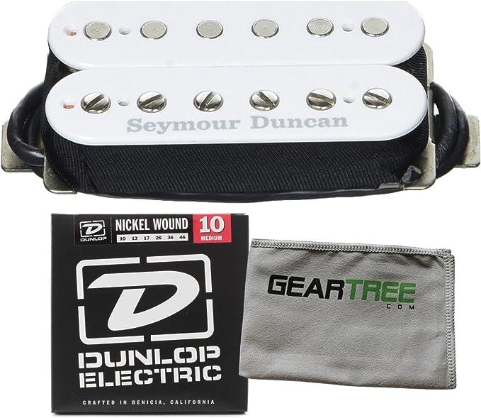 Blanco. Pastilla de guitarra Seymour Duncan SH-4 JB Humbucker
