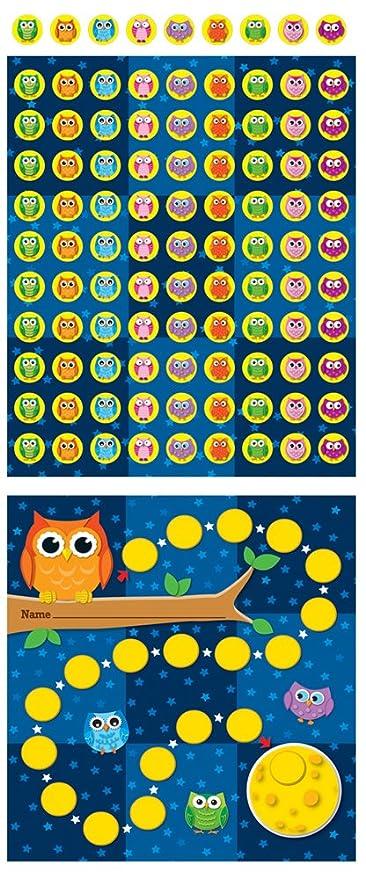 Amazon com carson dellosa owls mini incentive charts 148009