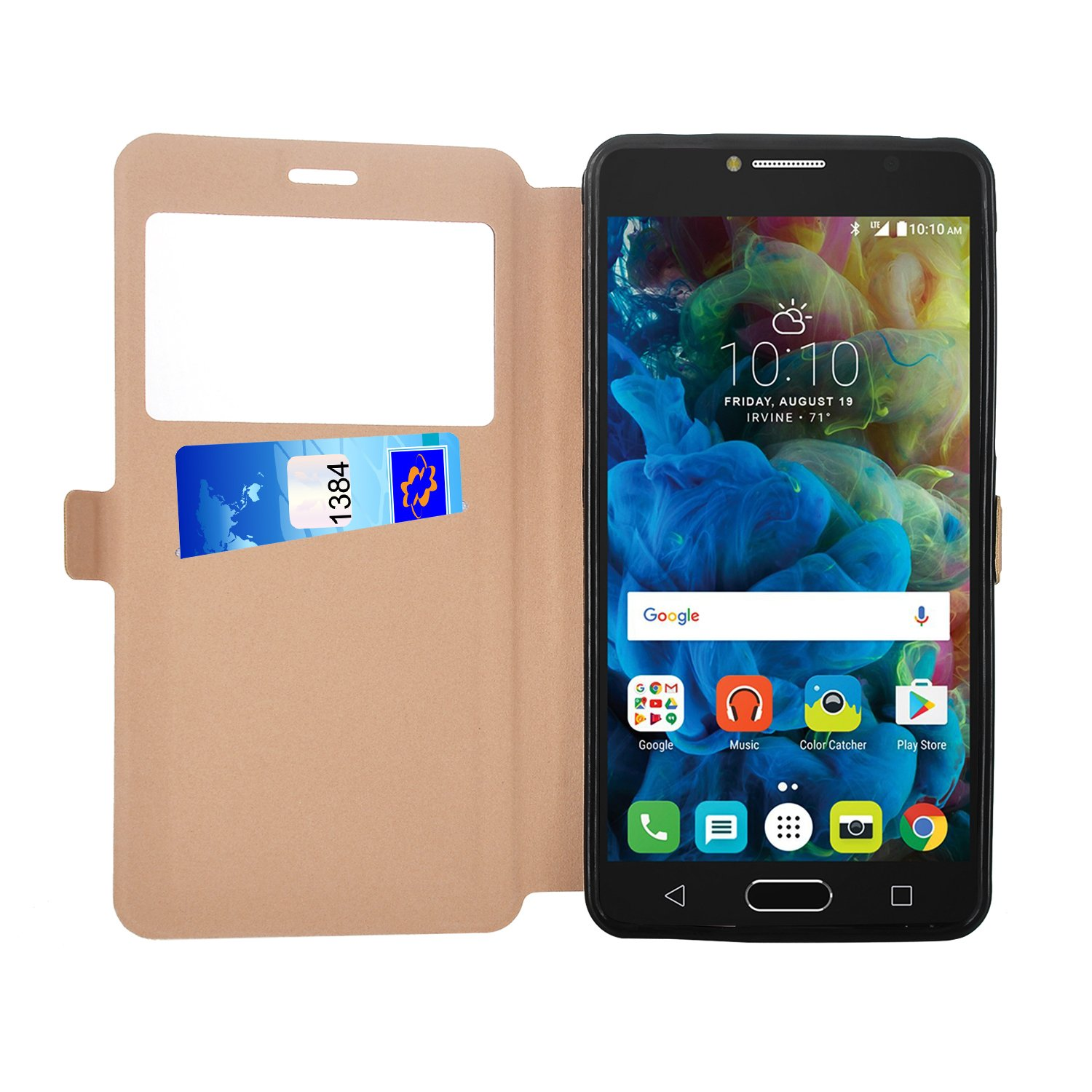 Amazon.com: Alcatel POP 4S case, KuGi Alcatel POP 4S case - BW style ultra-thin PU Leather Case for Alcatel POP 4S smartphone (Gold): Cell Phones & ...