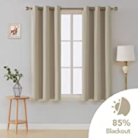 Deconovo Grommet Blackout Curtains 2 Panel 42 inch