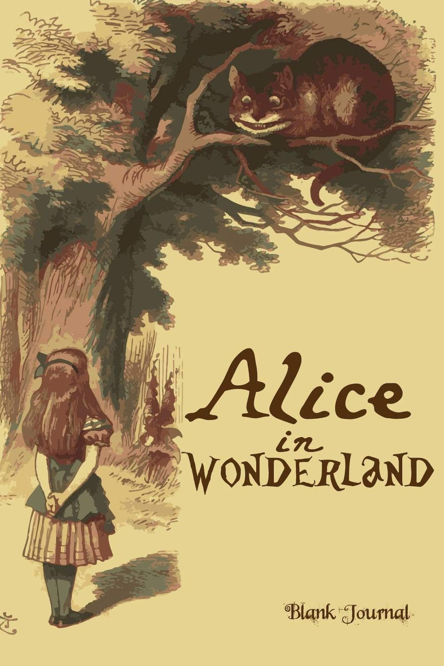 alice in wonderland journal blank unlined unruled 5 mm dot grid paperback notebook to write in for adults kids students teachers artists and 9 high wonderland cat journals volume 1