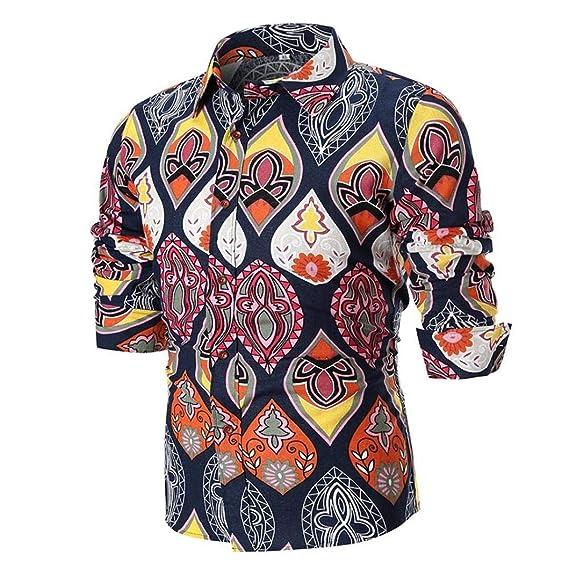 Hffan Herren Hemd Bedruckt Stern Muster Einfacher Stil