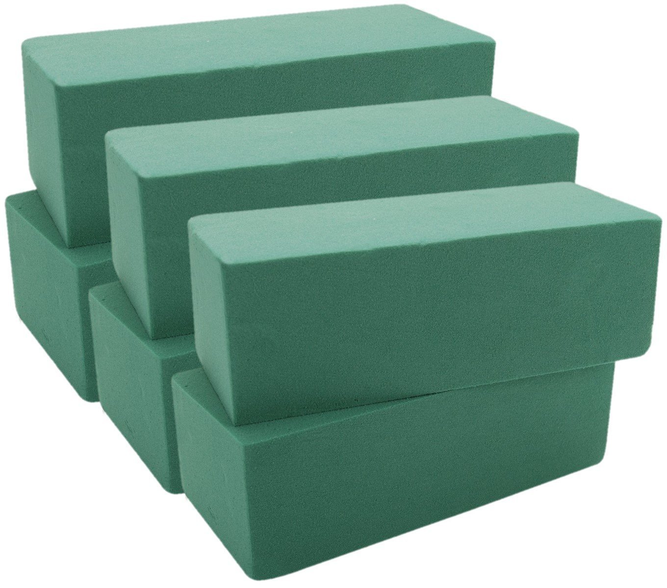 Premium Floral Foam Bricks Green Styrofoam Wet Foam Blocks 2.87 x 3.87 x 8.87 inches - 6/Pkg Green kedudes 4336861650