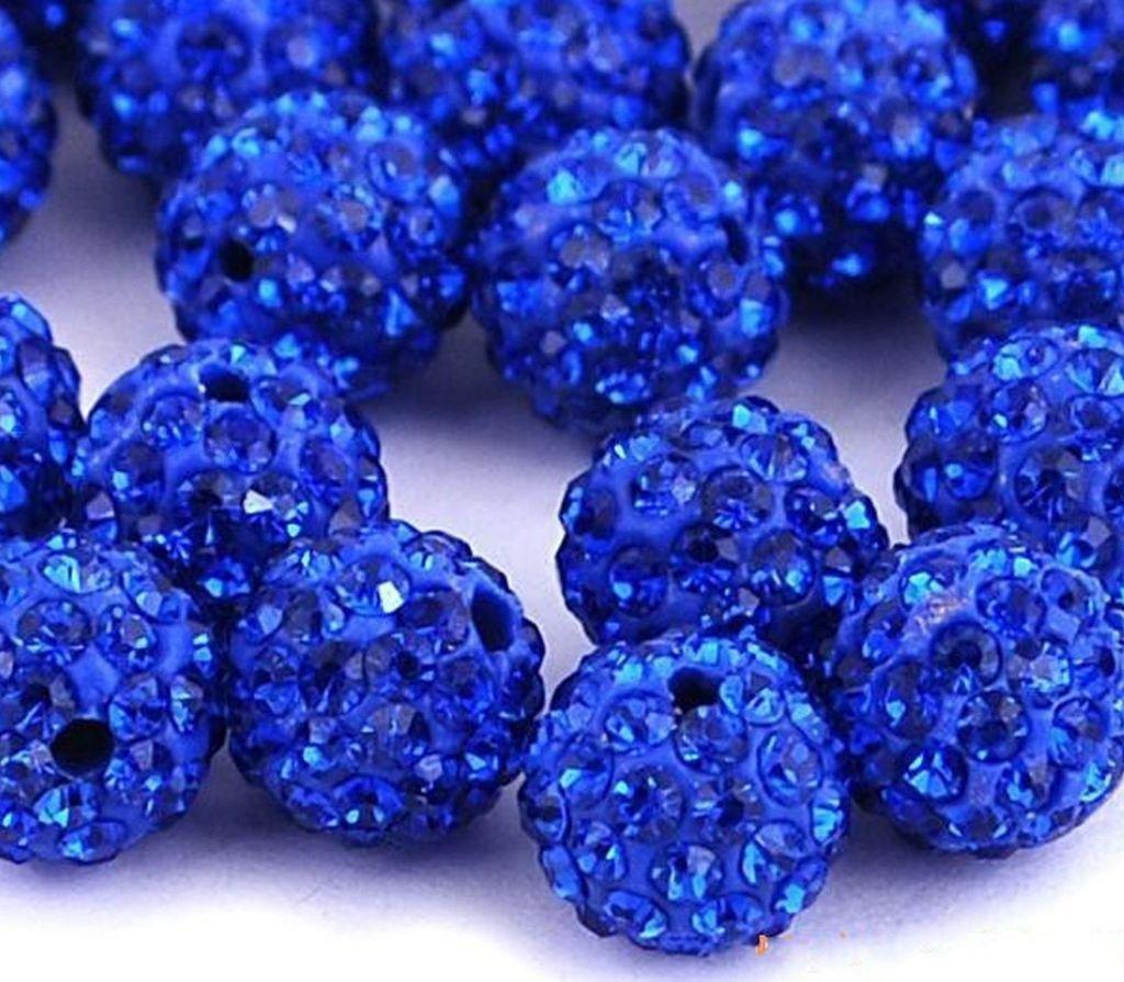5pcs x 10mm Beautiful Shamballa Style Disco Ball Rose Austrian Crystal Charm Spacer Beads