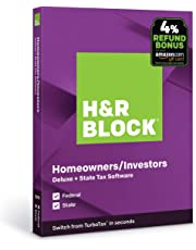 H&R Block Tax Software Deluxe + State 2019 with 4% Refund Bonus Offer [Amazon Exclusive] [PC/Mac Disc]