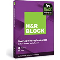 H&R Block Tax Software Deluxe + State 2019 with 4% Refund Bonus Offer [PC/Mac Disc]