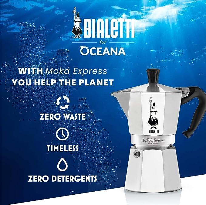 Bialetti Moka Express Cafetera Italiana Espresso, 9 Tazas, Aluminio, Plateado: Amazon.es: Hogar