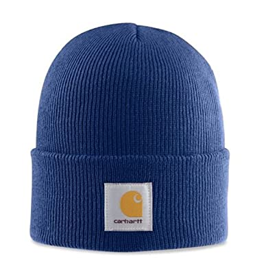 Carhartt Acrylic Watch Cap - Dark Cobalt blue CHA18DCB Mens Winter Beanie  Wool S CHA18DCB- f47fb12ab66