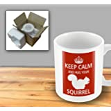 Pet Lover Designer Mug - Keep Calm And Hug Your Squirrel