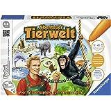 """Ravensburger tiptoi Spiel """"Abenteuer Tierwelt"""" - 00513 / Tierwissen erfahren und Laute erkennen: Aufregendes Konzentrationsspiel für Kinder von 4 - 8 Jahre"""