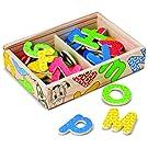 Melissa & Doug Disney Wooden Letter Alphabet Magnets (Developmental Toys, Sturdy Wooden Construction, 52 Pieces)