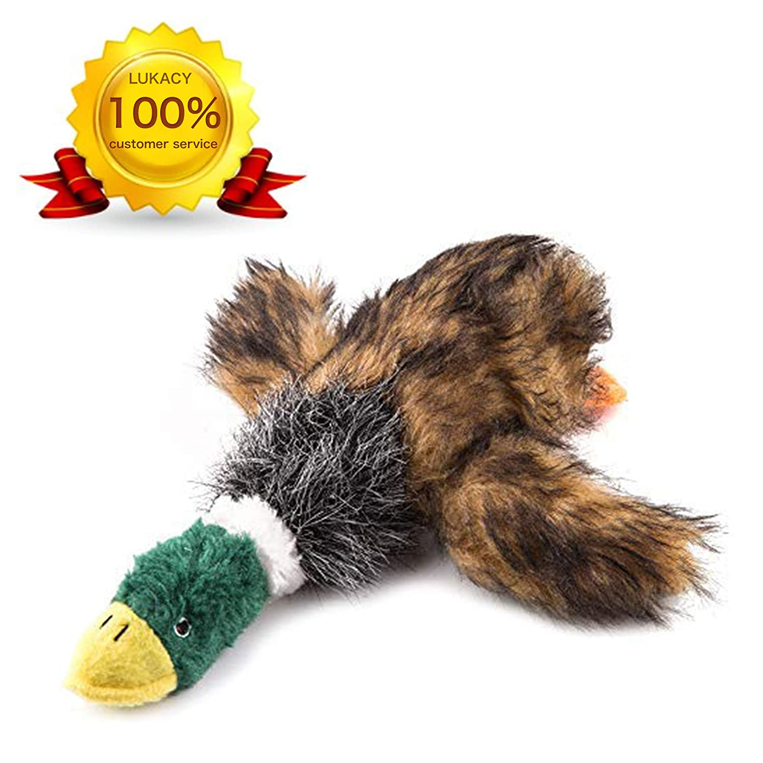 LUKACY Dog Squeaky Toys?Mallard Dog Toy?Dquacking Bird Duck Dog Toy? Bird Dog Chew Toy Green
