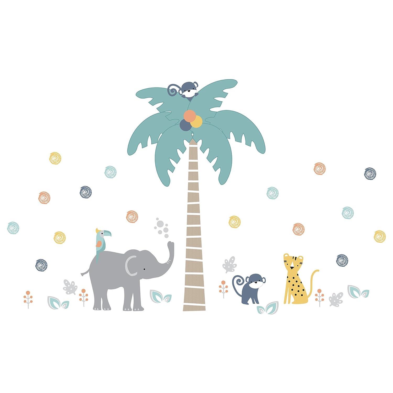 Lambs /& Ivy Jungle Safari Gray//Tan Elephant//Giraffe Nursery Wall Decals//Stickers