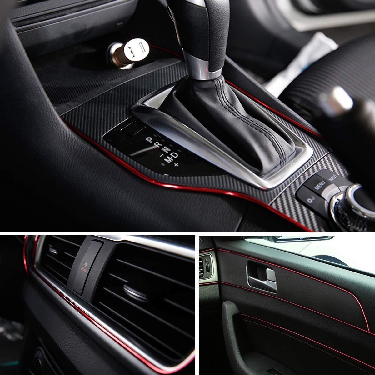 Electroplating Color Film Car Interior Exterior Decoration Moulding Trim Rubber Seal Protector Fit for Most Car Blue 16FT EJs SUPER CAR Car Interior Moulding Trim 5M