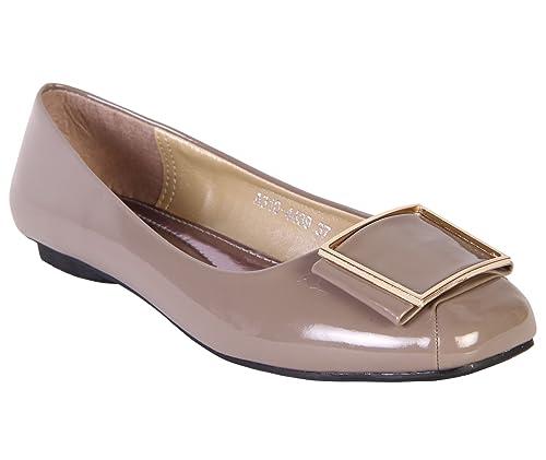 KARIZMA Beige Color Belly Shoes for