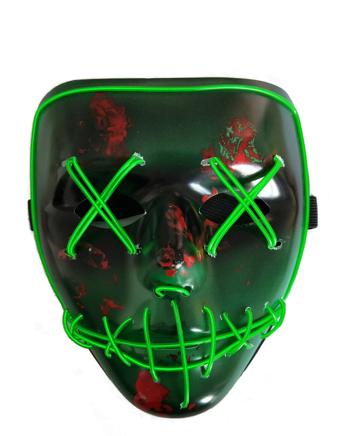 NIGHT-GRING Halloween Scary Mask Cosplay Led Mask EL Wire Light up for Festival Costume Party
