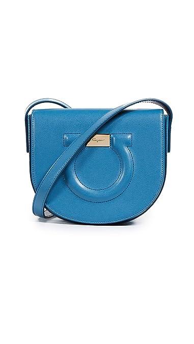 8a36df4c44 Amazon.com  Salvatore Ferragamo Women s Gancio City Crossbody Bag ...