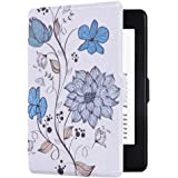 E4DEAL Slim Case for Kindle Paperwhite(10th Generation-2018), Smart Shell Cover with Auto Sleep Wake Feature for Kindle Paperwhite 10th Gen 2018 Released(Lotus)