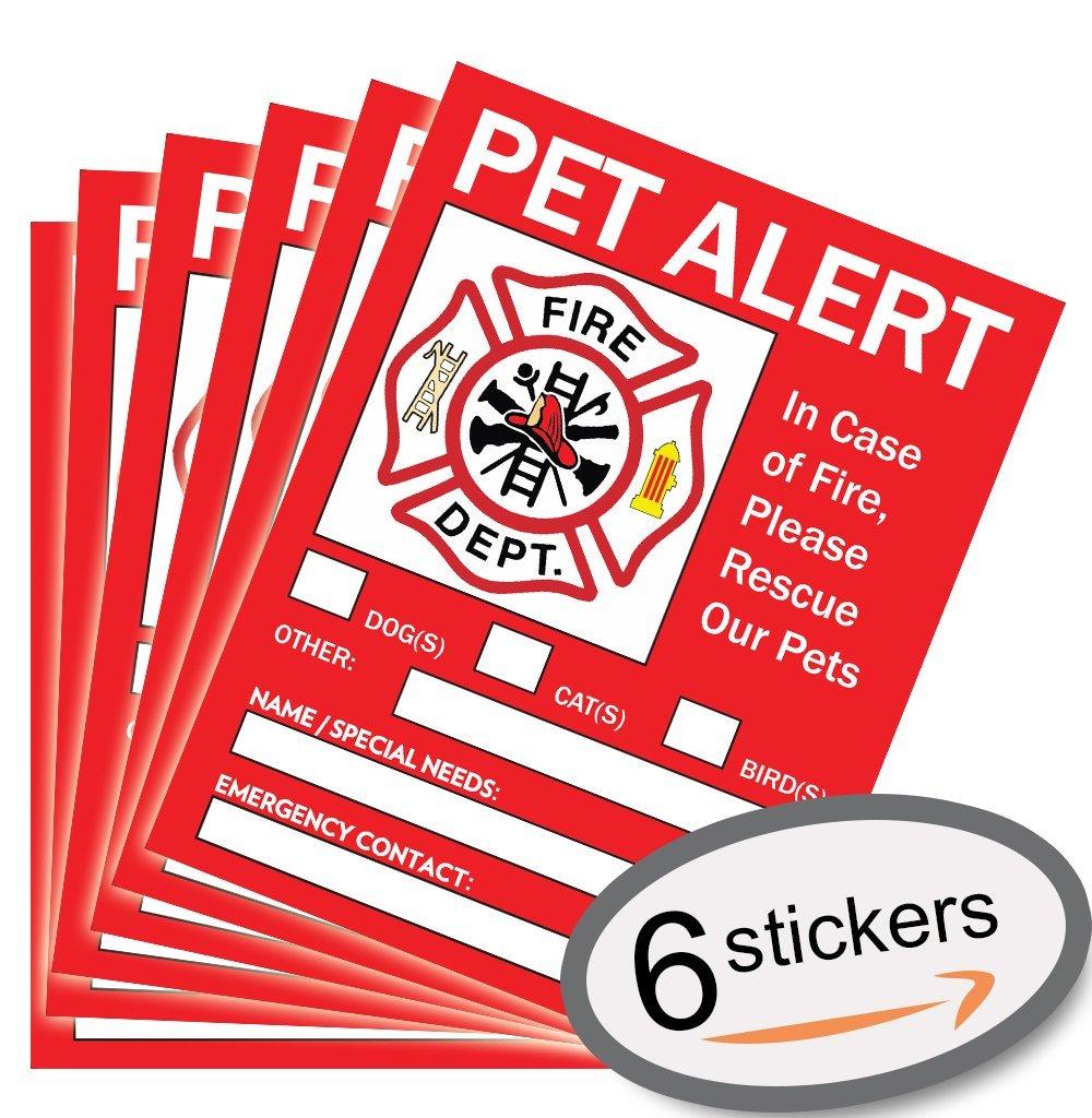 Pet Alert Safety Fire Rescue Sticker - 5