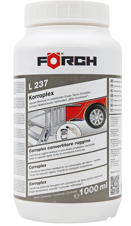 L237 Korroplex Fö rch Rost-Umwandler Rostumwandler 1000 ml lata con rá pido tiempo de respuesta Förch