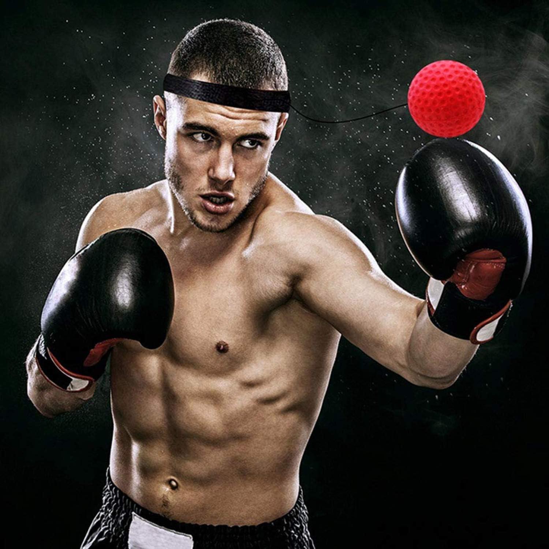 Boxing Reflex Ball Boxeo Portátil Entrenamiento Ball Fight Ball con Diadema para Adultos Niños Mejora MMA: Amazon.es: Deportes y aire libre