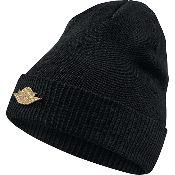 21f15062308 Air Jordan Jumpman Beanie 801770 010 Black Metallic Gold  Amazon.ca  Jewelry
