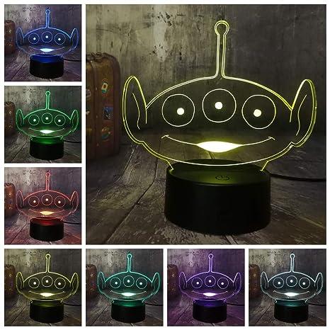 Toy Story Lindo Alien Verde Squeeze Juguete Alien 3D Luz De ...