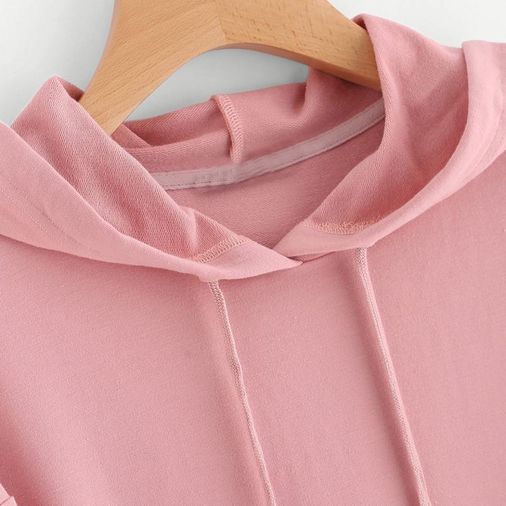 Gaddrt Sudadera con capucha para mujer, manga larga, diseño de ...