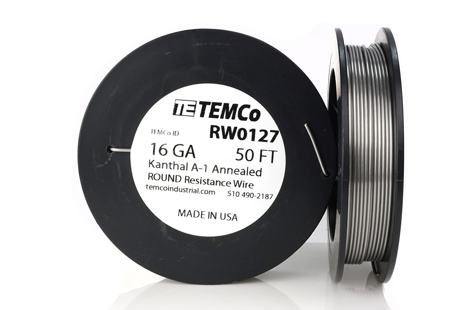 TEMCo Kanthal A1 wire 16 Gauge 1 lb (159 ft) Resistance AWG A-1 ga ...