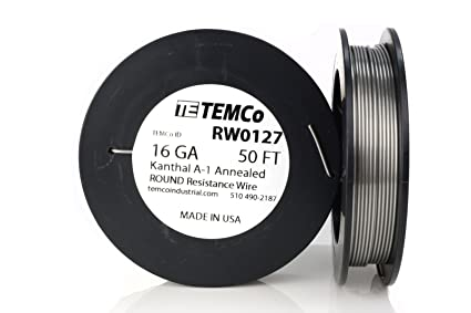 Temco kanthal a1 wire 16 gauge 50 ft resistance awg a 1 ga temco kanthal a1 wire 16 gauge 50 ft resistance awg a 1 ga keyboard keysfo Image collections